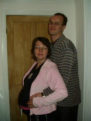 Me and Jo shortly before the birth