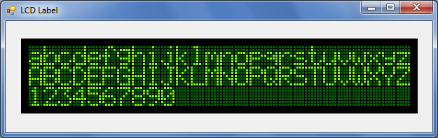 C# LCD label control