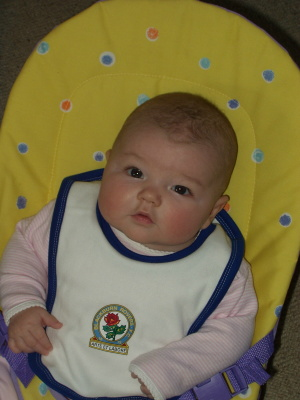Lola Rose, Blackburn Rovers' youngest fan