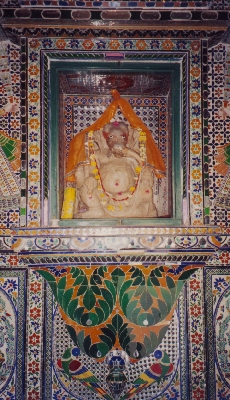 Ganesh, the god of luck, in the fort at Udaipur