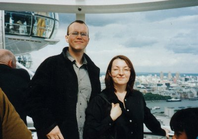 Here's a picture of me and Jo on the London Eye