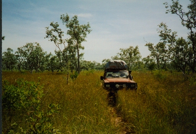 Offroading, somewhere between Darwin and Broome