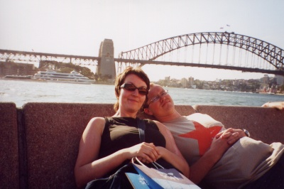 Me and Jo at Sydney Harbour