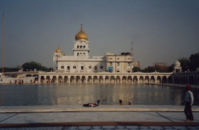 The Sikh temple in Delhi